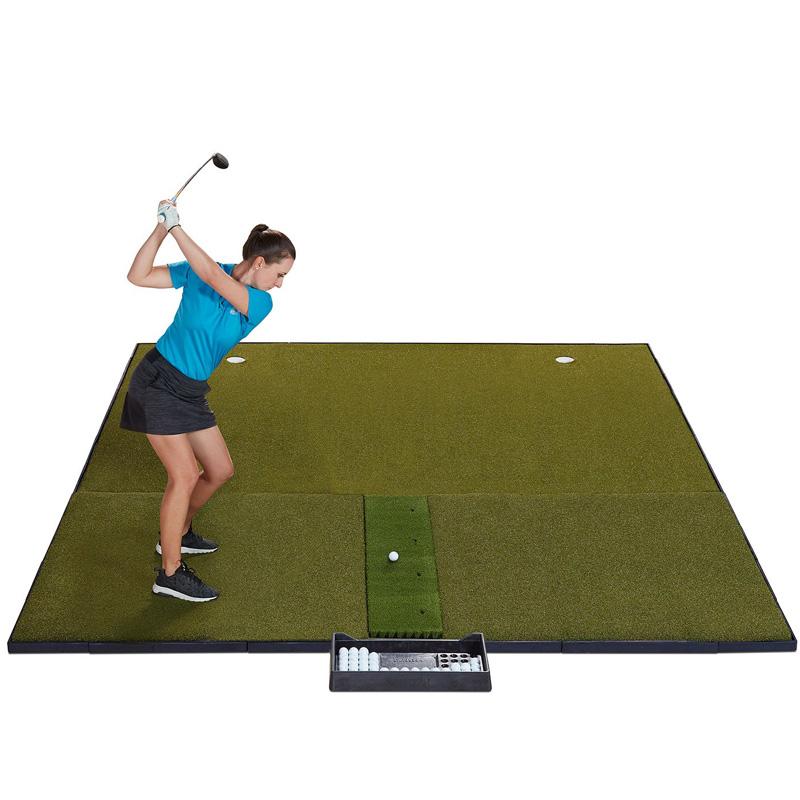 "Fiberbuilt Combo Golf Hitting Mat System - 10'x10"" Center Hitting"