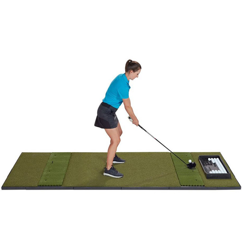 Fiberbuilt Studio Golf Hitting Mat - Center Stance 4'x10'