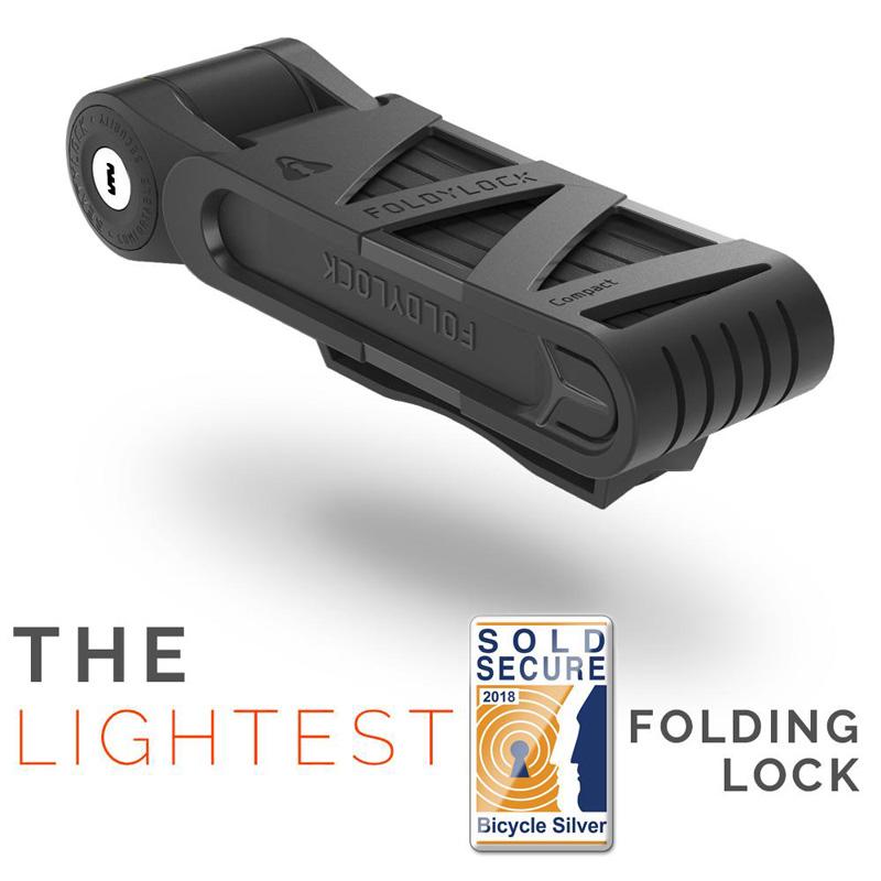 Foldylock Compact Folding Bike Lock - Black