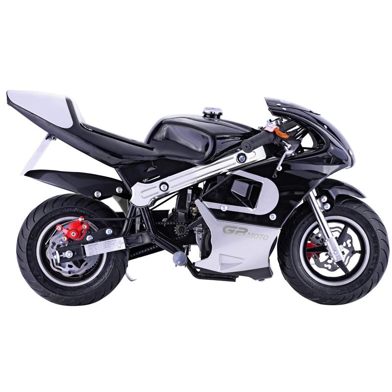 Go-Bowen 40cc 4-Stroke Gas Pocket Bike - Mini Motorcycle - Black