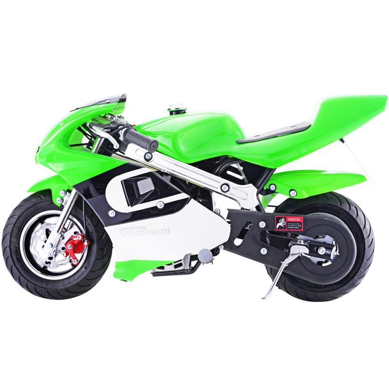 Go-Bowen 40cc 4-Stroke Gas Pocket Bike - Mini Motorcycle - Green