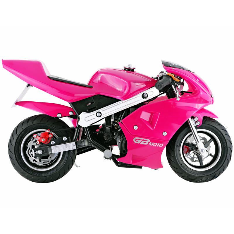 Go-Bowen 40cc 4-Stroke Gas Pocket Bike - Mini Motorcycle - Pink