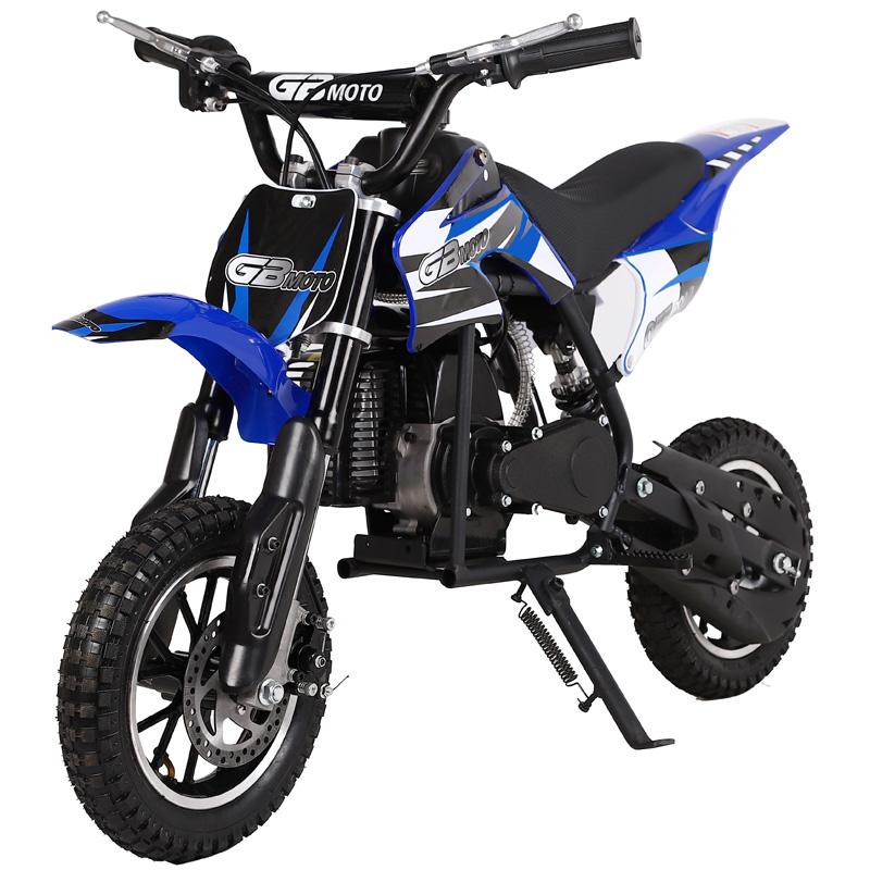 Go-Bowen Dakar Mini Dirt Bike - 49cc 2-Stroke - Blue/Black