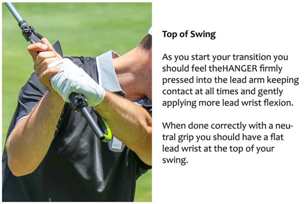 The Hanger Golf Training Aid Top of The Swing