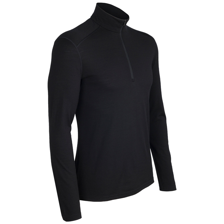 Icebreaker 200 Oasis Long Sleeve Half Zip - Mens Black