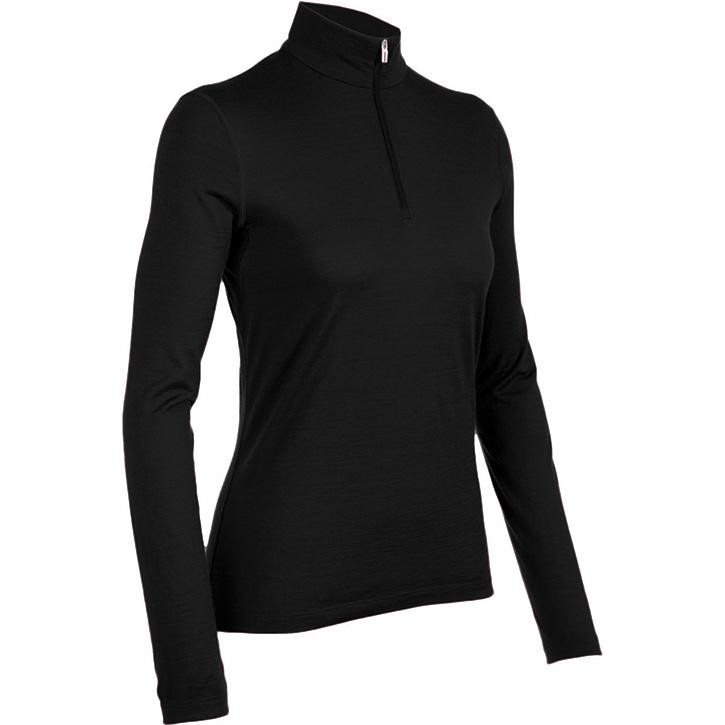 Icebreaker 200 Oasis Long Sleeve Half Zip - Womens Black
