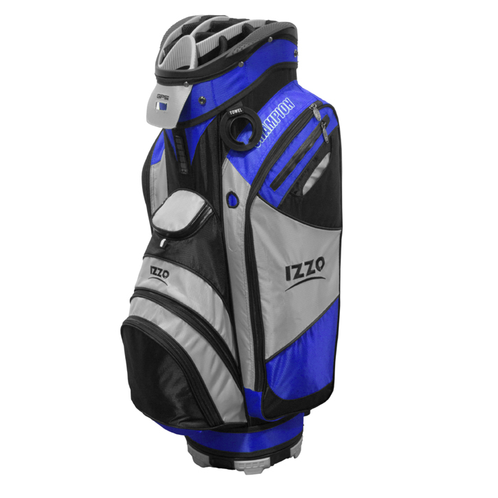 Izzo 2013 Champion Cart Bag - Blue/Grey/Black
