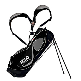 Izzo Golf Geo Stand Bag - Black