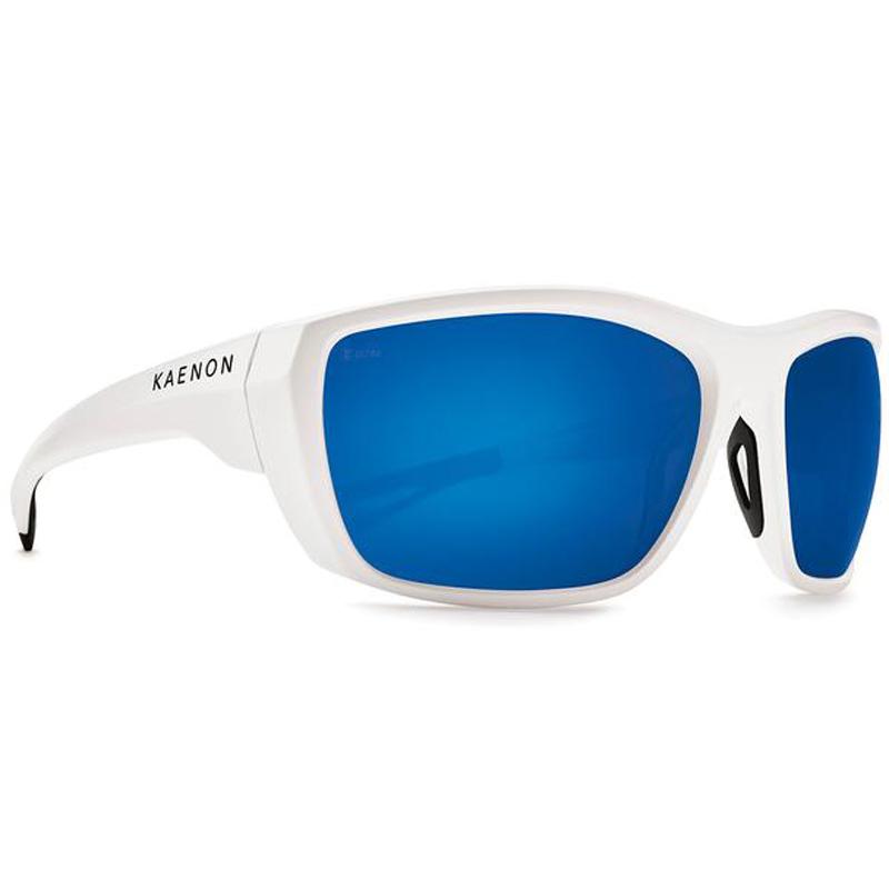 Kaenon Arcata Polarized Sunglasses - Matte White/Ultra Grey 12 Pacific Blue Mirror