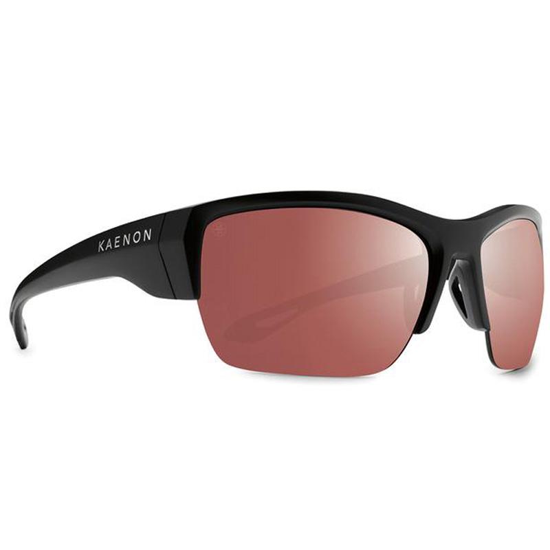 Kaenon Arcata Polarized Sunglasses - Matte Black/Copper 12 Silver Mirror
