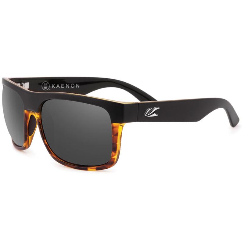 Kaenon Burnet XL Polarized Sunglasses - Matte Black/Tortoise G12