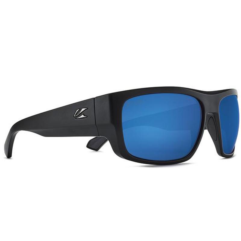 Kaenon Burnet FC Polarized Sunglasses - Black Matte Grip/ Ultra Grey 12 Pacific Blue Mirror