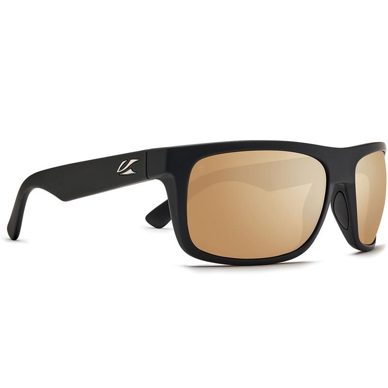 Kaenon Burnet Mid Polarized Sunglasses - Black/Matte Grip - B12 Gold Mirror