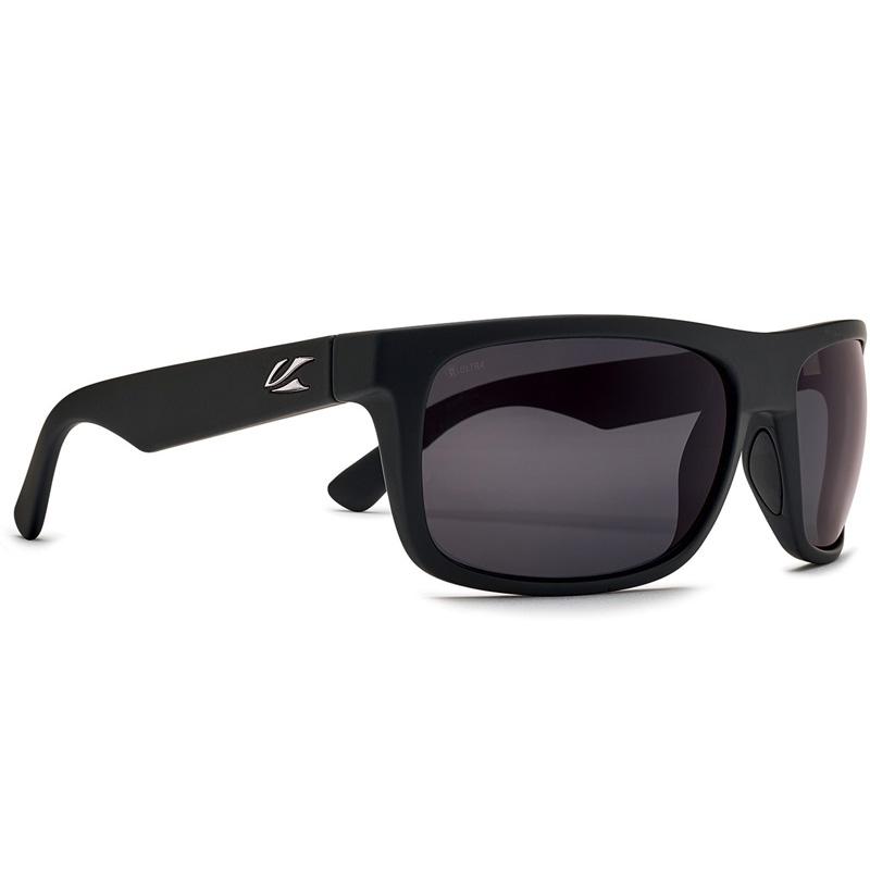 Kaenon Burnet Mid Polarized Sunglasses - Black/Matte Grip - G12 Ultra Grey