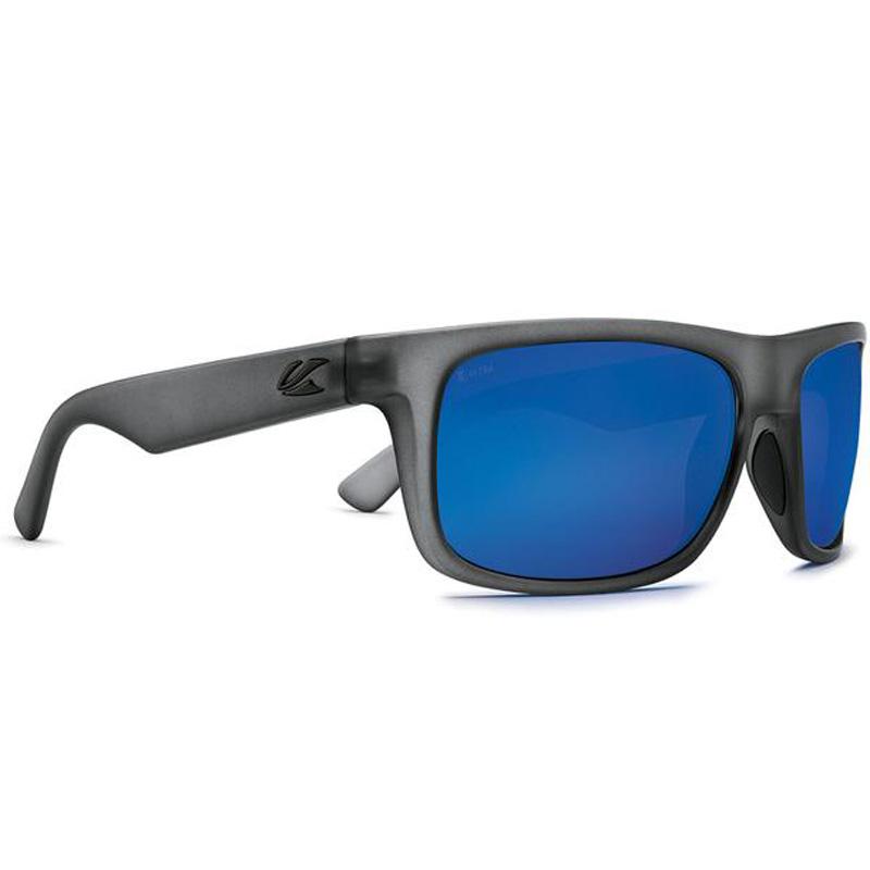 Kaenon Burnet Mid Polarized Sunglasses - Carbon Matte Grip/Ultra Grey 12 Pacific Blue Mirror