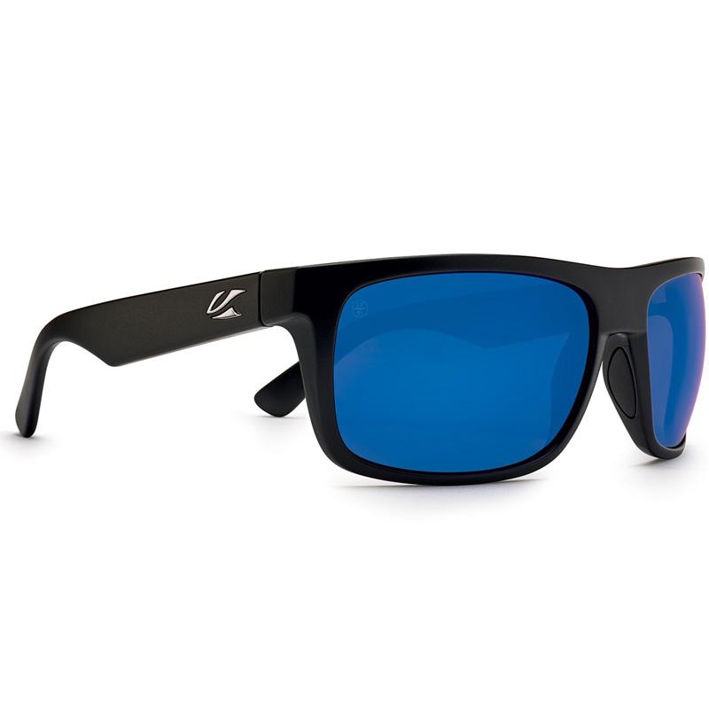 Kaenon Burnet Mid Polarized Sunglasses - Matte Black - G12 Pacific Blue Mirror