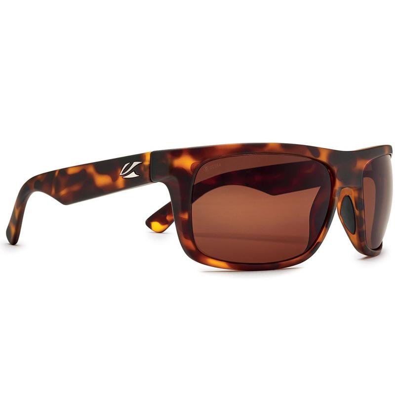 Kaenon Burnet Mid Polarized Sunglasses - Tortoise/Matte Grip - B12 Ultra Brown
