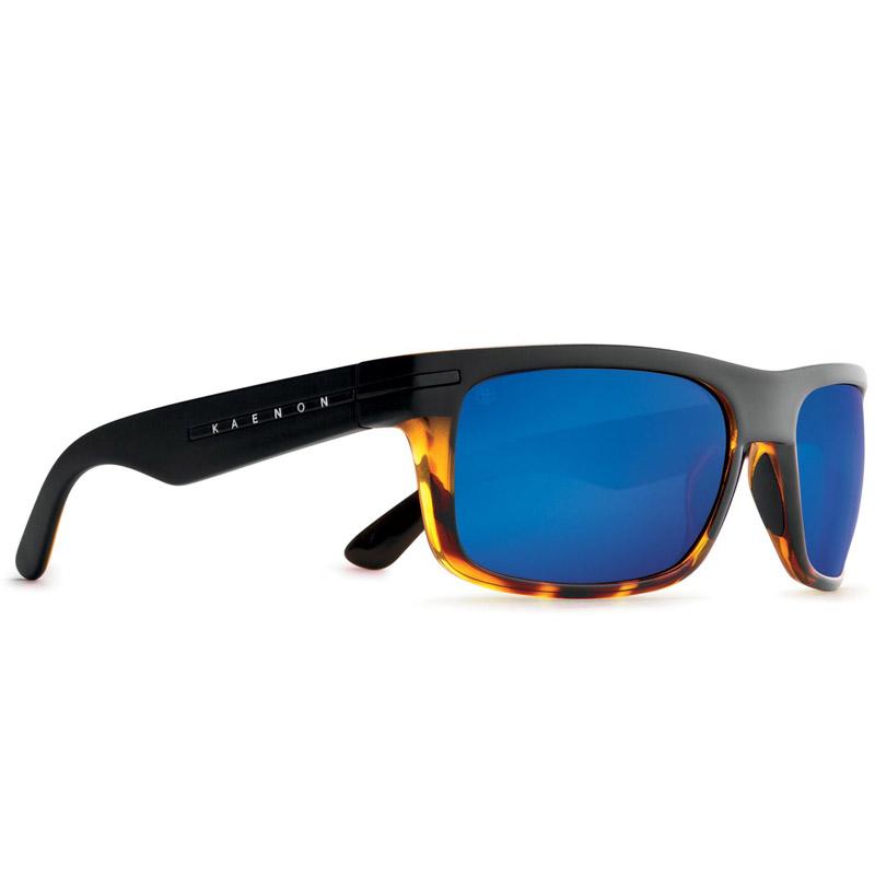 Kaenon Burnet Polarized Sunglasses - Matte Black/Tortoise - Pacific Blue Mirror