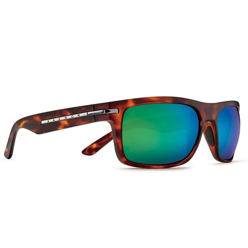 Kaenon Burnet Polarized Sunglasses - Matte Tortoise/Gunmetal - Coastal Green Mirror