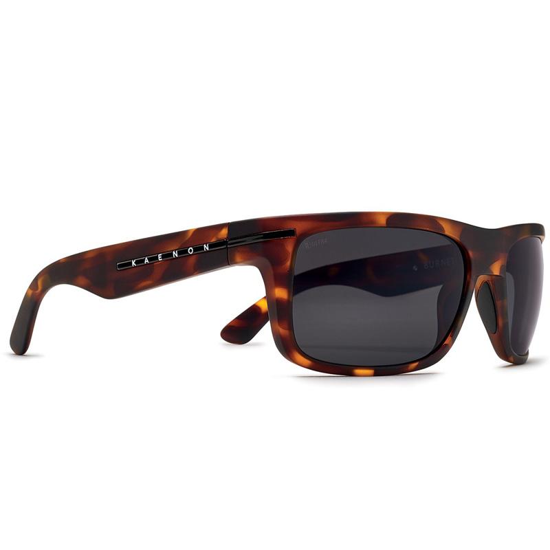 Kaenon Burnet Polarized Sunglasses - Tortoise/Matte Grip - G12 Ultra Grey