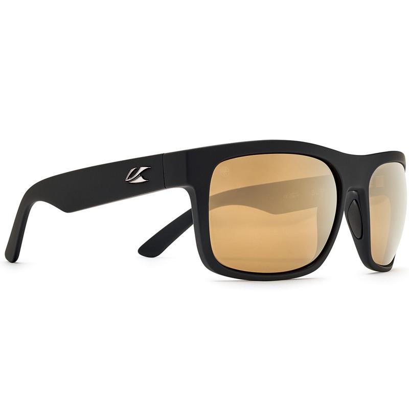 Kaenon Burnet XL Polarized Sunglasses - Black/Matte Grip - B12 Gold Mirror