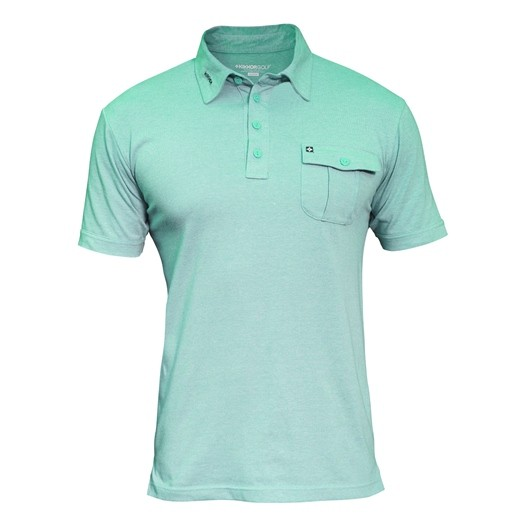 Image of Kikkor Heather Polo - Mens Mint