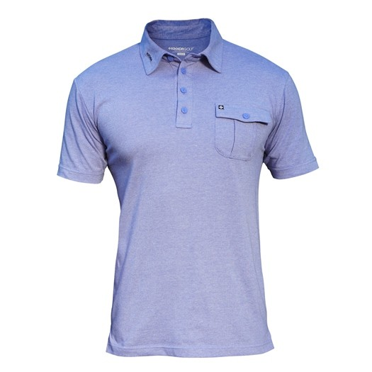 Image of Kikkor Heather Polo - Mens Purple