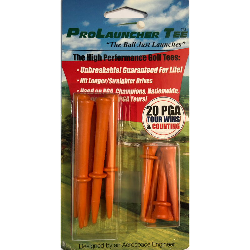 Launcher Golf Tees (10 Pack) - Orange