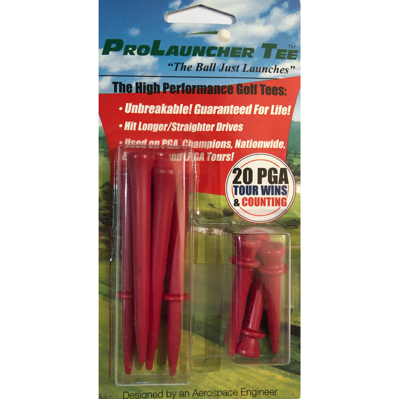 Launcher Golf Tees (10 Pack) - Red