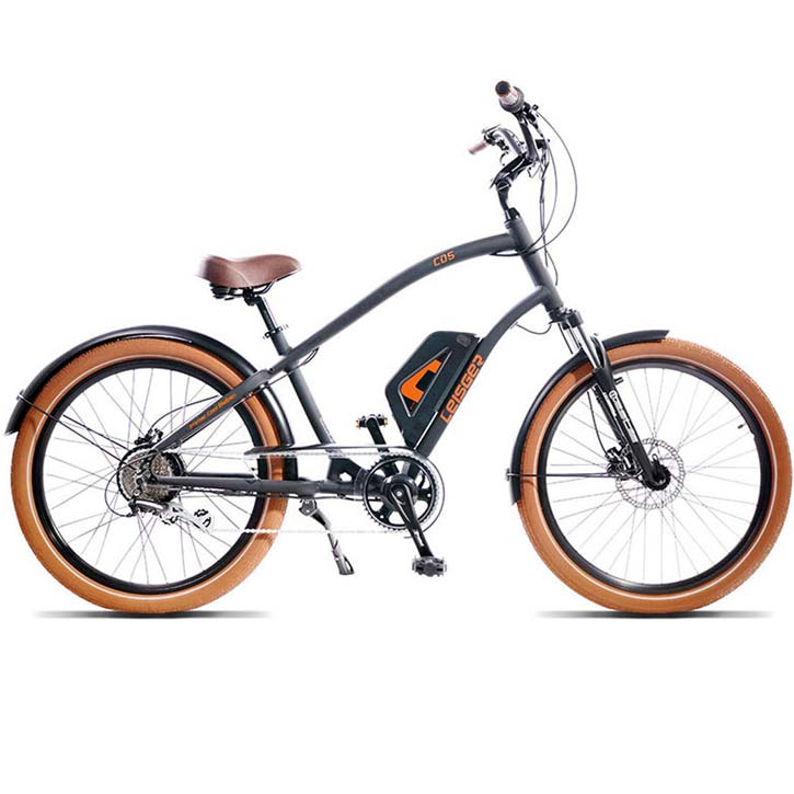 2018 Leisger CD5 Electric Cruiser Bike - Black