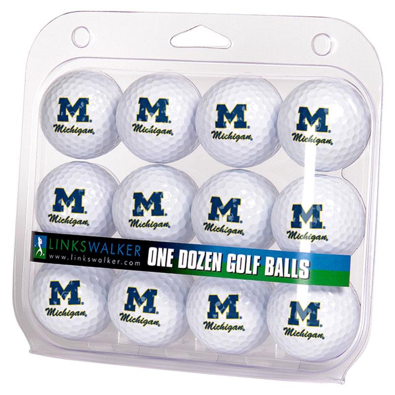 Michigan Wolverines Logo Golf Balls (1 Dozen)
