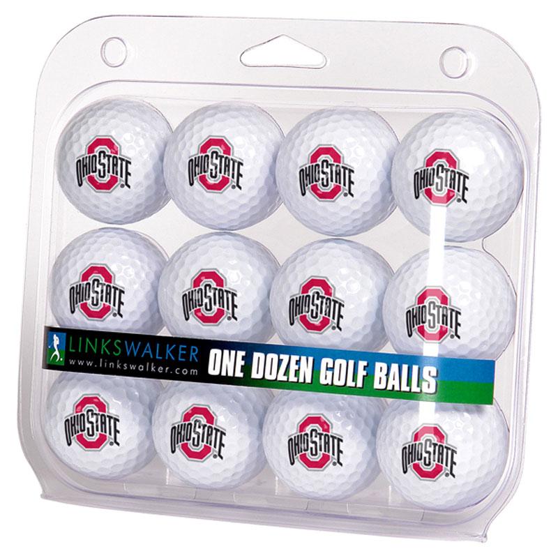 Ohio State Buckeyes Logo Golf Balls (1 Dozen)