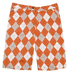 Loudmouth Golf Shorts - Orange & White