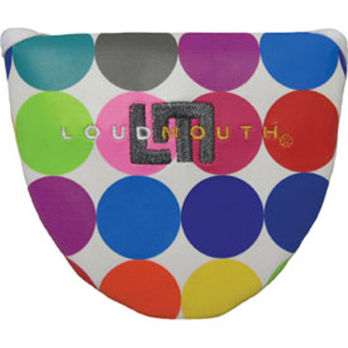 Loudmouth Golf Mallet Putter Cover - Disco Balls White