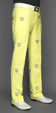 Loudmouth Golf Pants John Daly Lions Yellow At