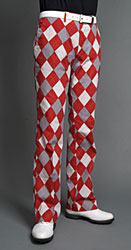 Loudmouth Golf Pants - Red & Gray