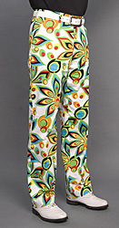 Loudmouth Golf Pants - Shagadelic White