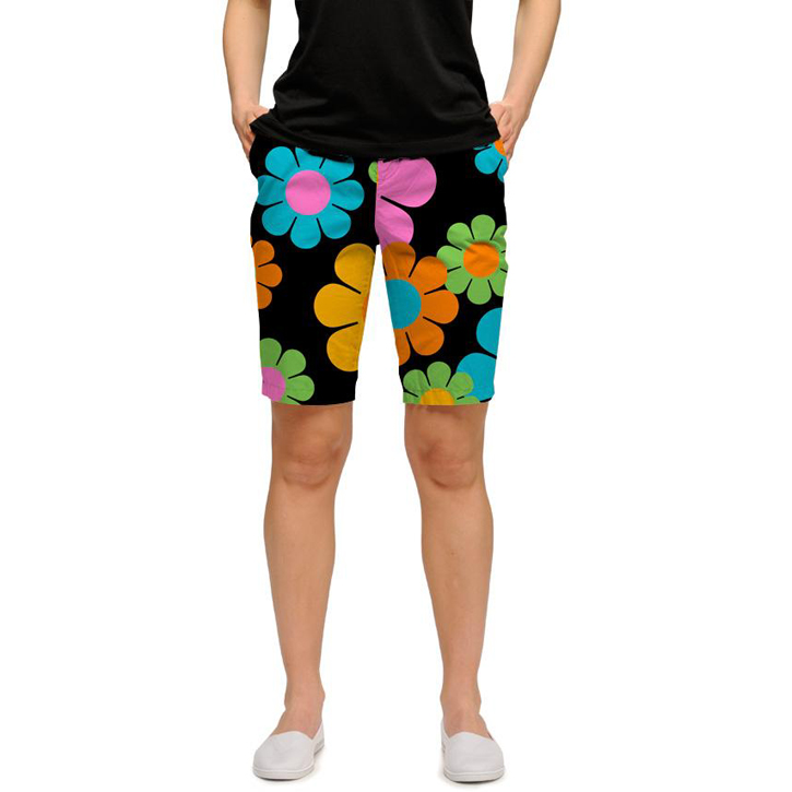 Loudmouth Golf Womens Shorts - Magic Bus Image