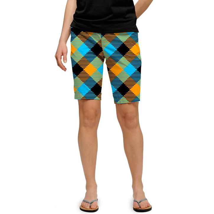 Loudmouth Golf Womens Shorts - Microwave