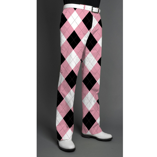 Loudmouth Golf Pants - Pink and Black
