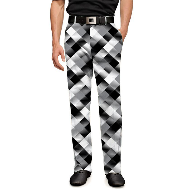 Loudmouth Golf Pants - Silver & Black Image