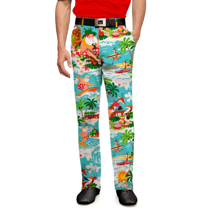 Image of Loudmouth Golf Pants - Surfin Santas