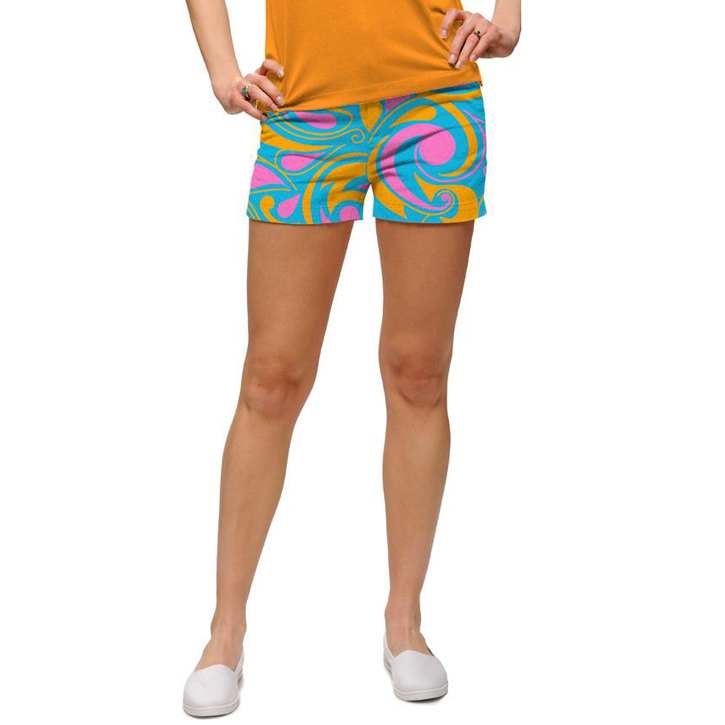 Loudmouth Golf Womens Mini Shorts - Key West
