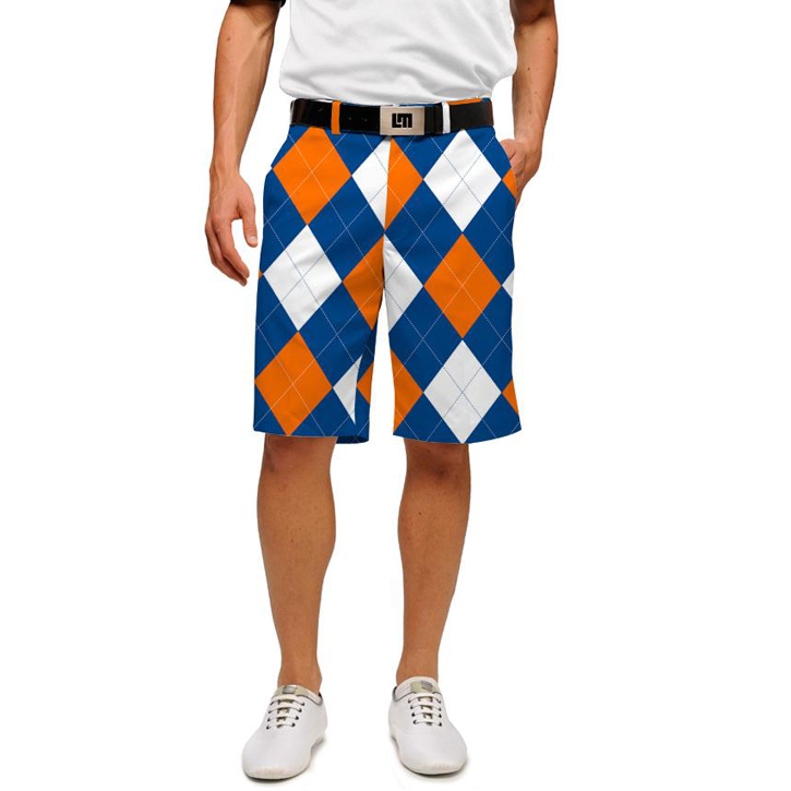 Loudmouth Golf Shorts - Orange & Blue