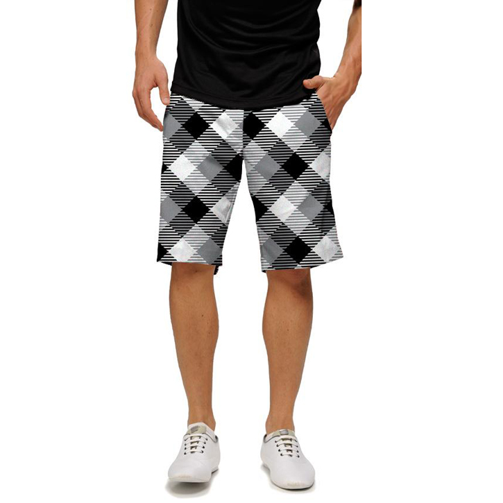 Loudmouth Golf Shorts - Silver & Black