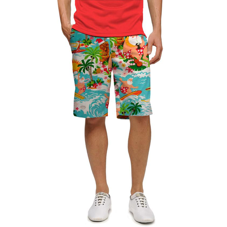 Loudmouth Golf Shorts - Surfin Santas