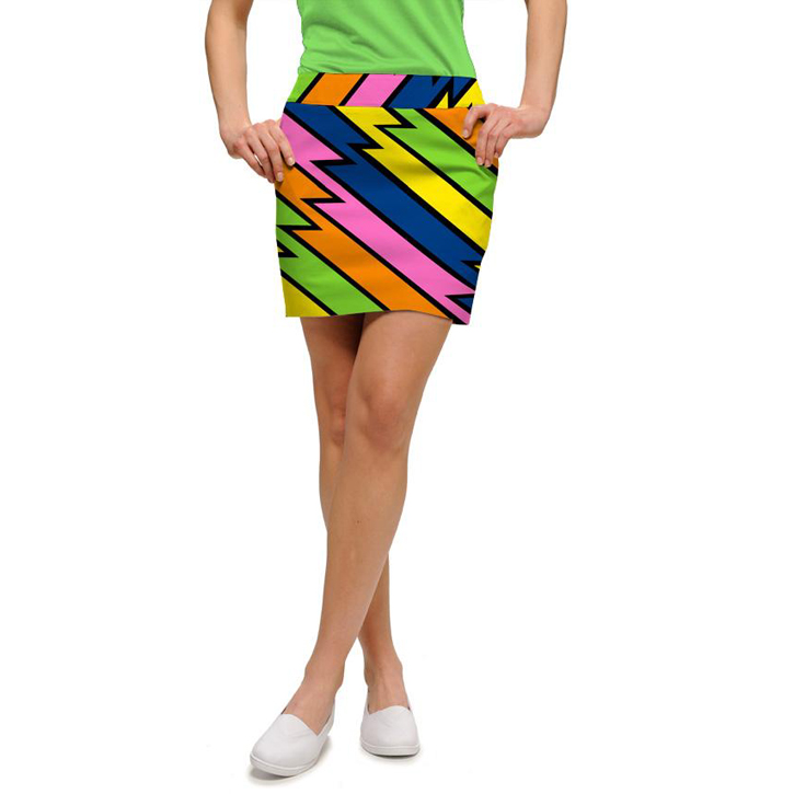 Loudmouth Golf Skort - Lightening Rod Image
