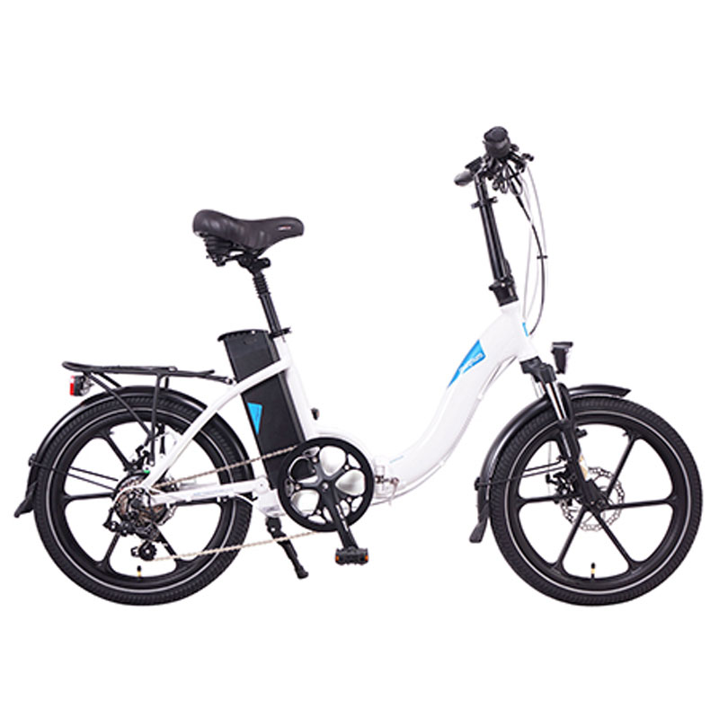 2019 Magnum Premium 48v Folding Step Thru Electric Bike - White