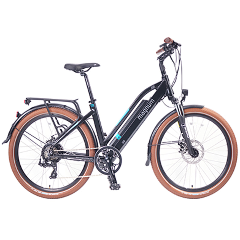 2019 Magnum Ui6 Electric Hybrid City Bike - Black