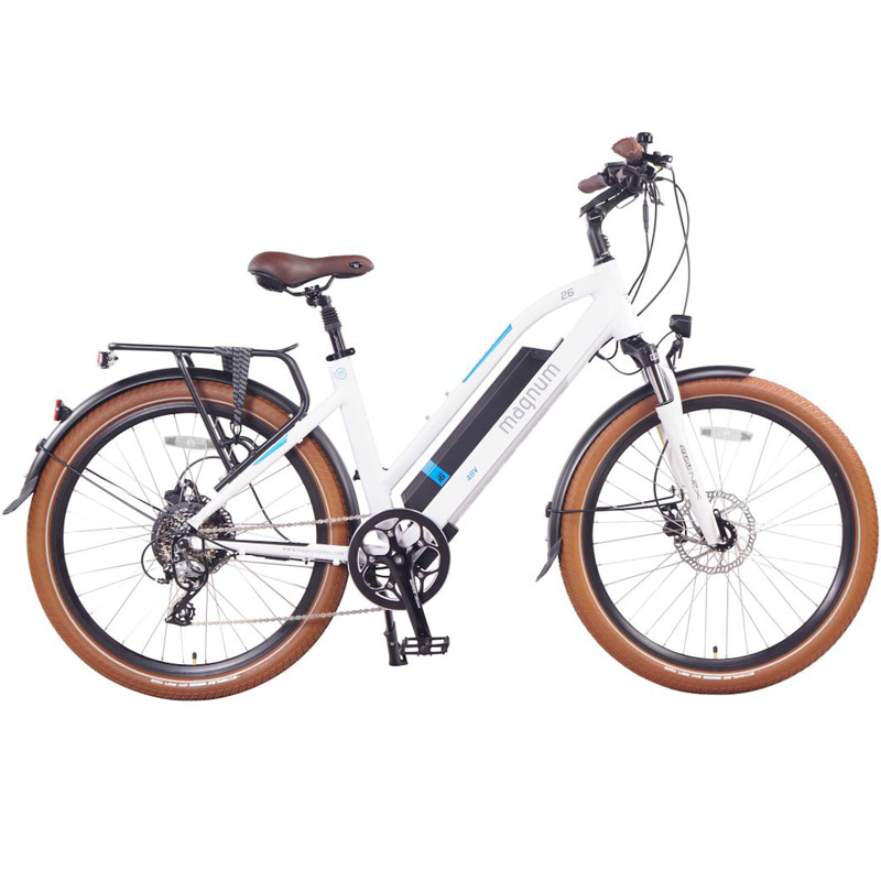 2019 Magnum Ui6 Electric Hybrid City Bike - White